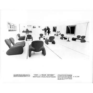 2001 L'ODYSSEE DE L'ESPACE Photo de presse 028 - 20x25 cm. - R1974 / 1968 - Keir Dullea, Stanley Kubrick