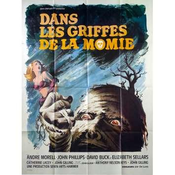 DANS LES GRIFFES DE LA MOMIE Affiche de film 120x160 - 1967 - Hammer