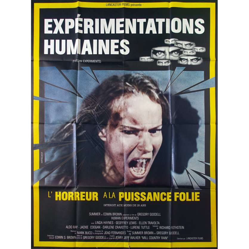 HUMAN EXPERIMENTS French Movie Poster 47x63 - 1980 - Gregory Goodell, Linda Haynes