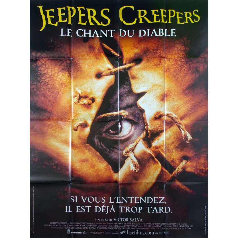 JEEPERS CREEPERS Affiche de film 120x160 - 2001 - Victor Salva