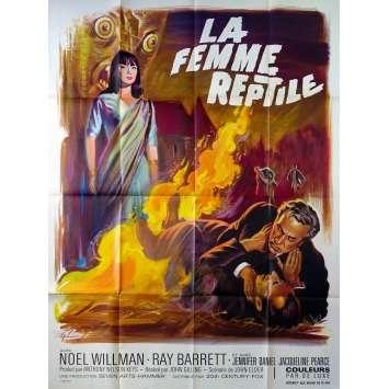 LA FEMME REPTILE Affiche de film 120x160 - 1966 - Jacqueline Pierce, John Gilling
