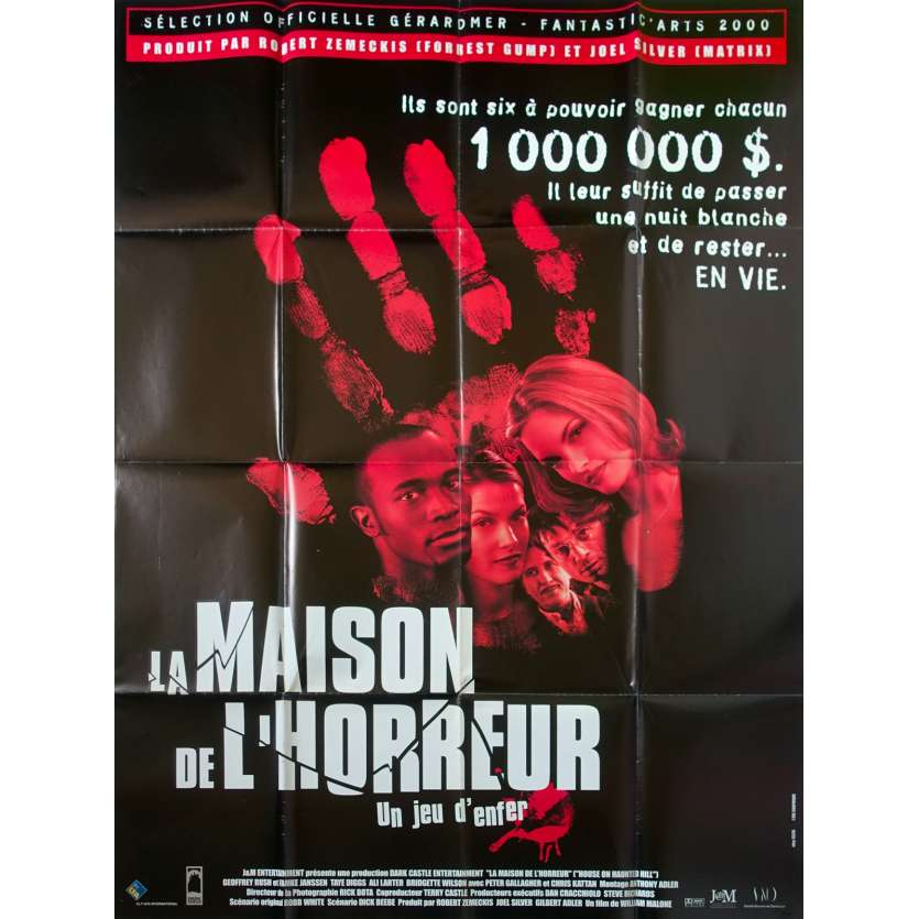 HOUSE ON HAUNTED HILL Movie Poster 47x63 '00 Geoffrey Rush