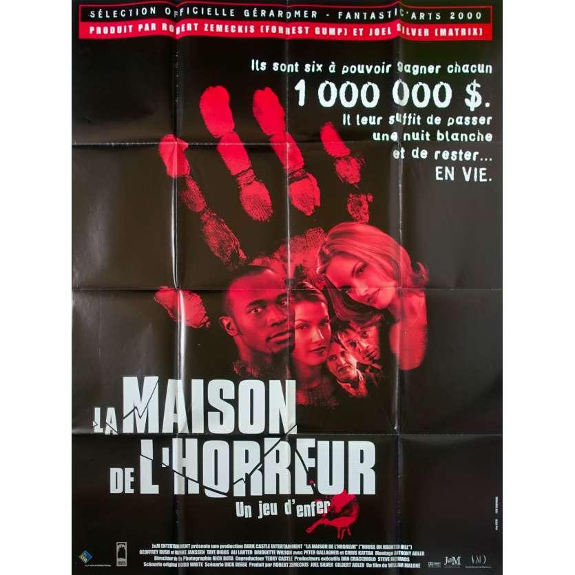 LA MAISON DE L'HORREUR Affiche de film 120x160 - 2000 - Geoffrey Rush