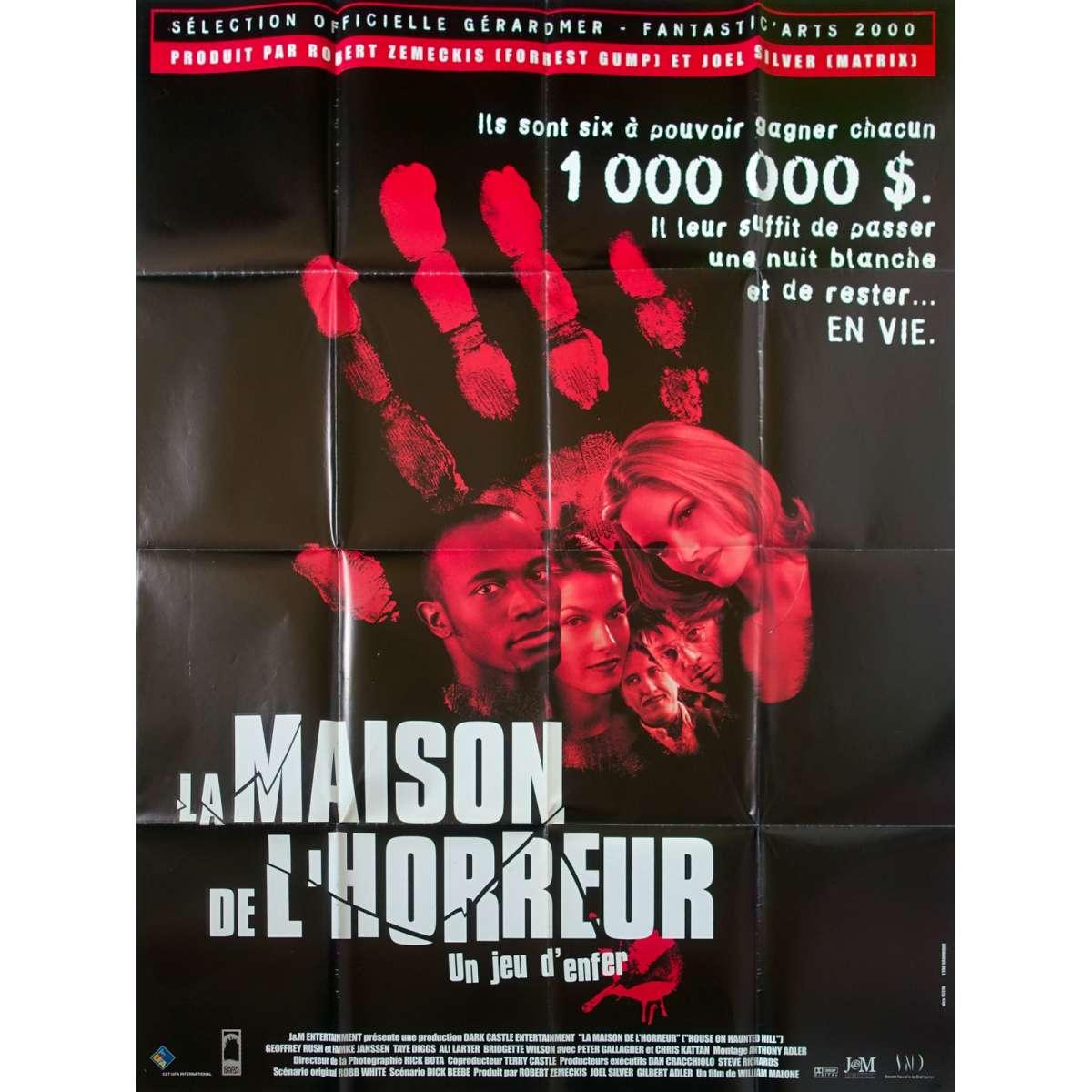 Maison De L Horreur Affiche Cinema