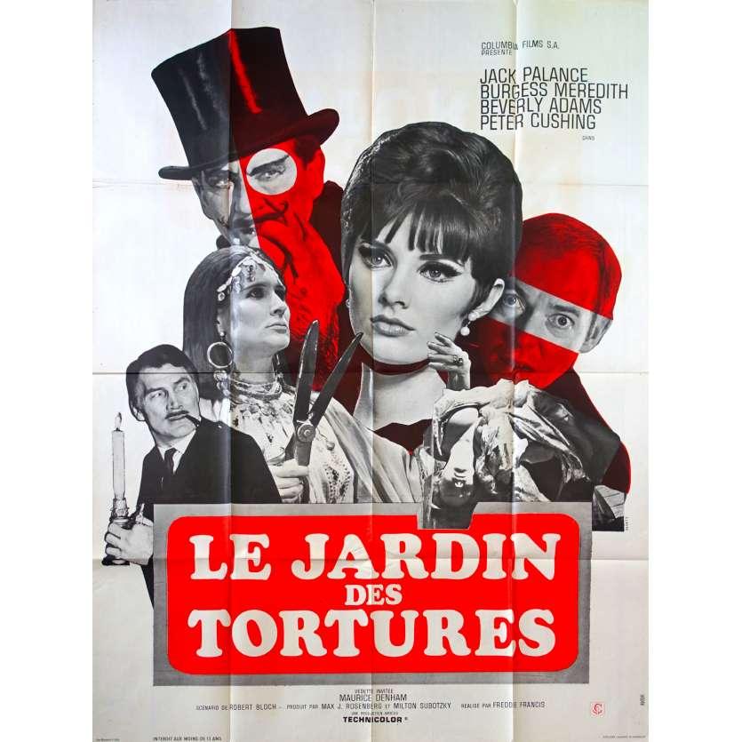 LE JARDIN DES TORTURES Affiche de film 120x160 - 1967 - Jack Palance, Freddie Francis
