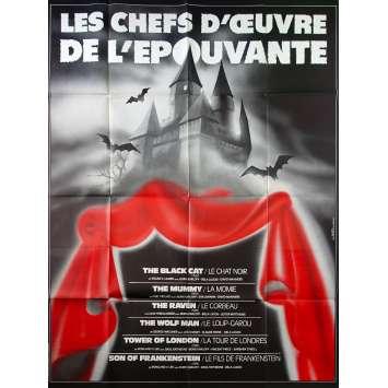 LES CHEFS D'OEUVRE DE L'EPOUVANTE Affiche de film 120x160 - 1980s