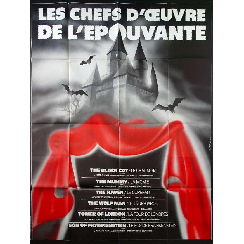 LES CHEFS D'OEUVRE DE L'EPOUVANTE French Movie Poster 47x63 - 1980s