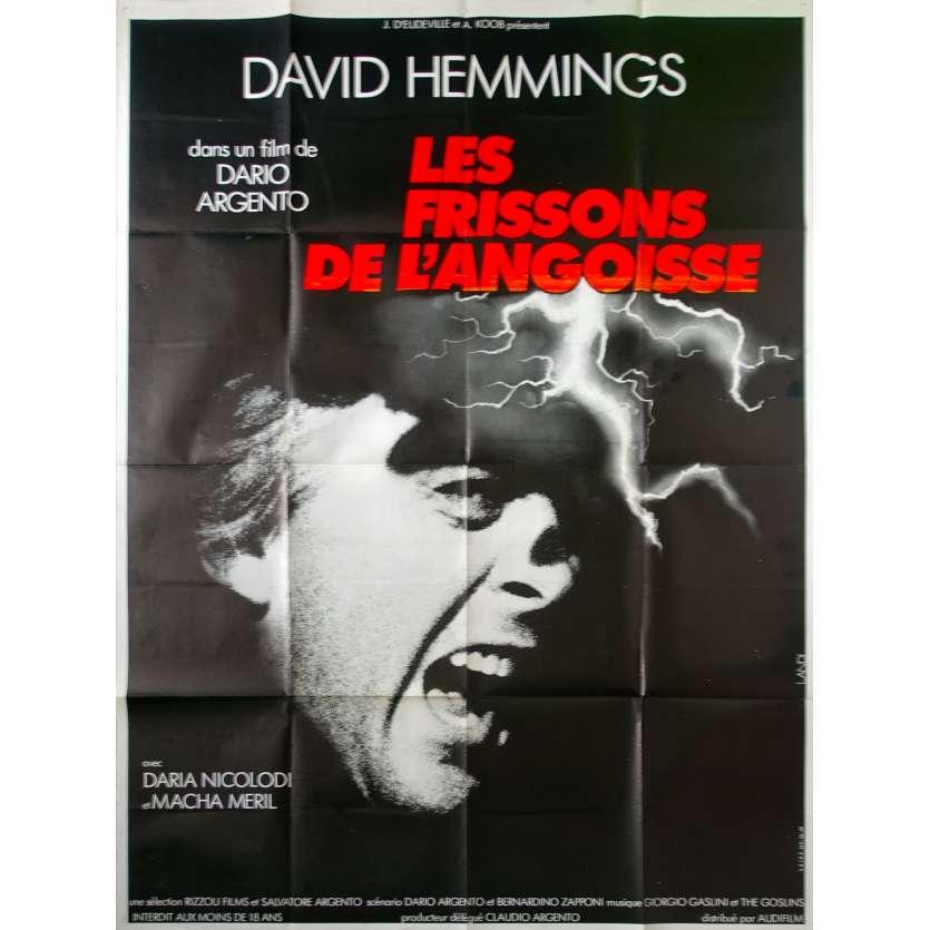 LES FRISSONS DE L'ANGOISSE Affiche de film 120x160 - 1974 - David Hemmings, Dario Argento