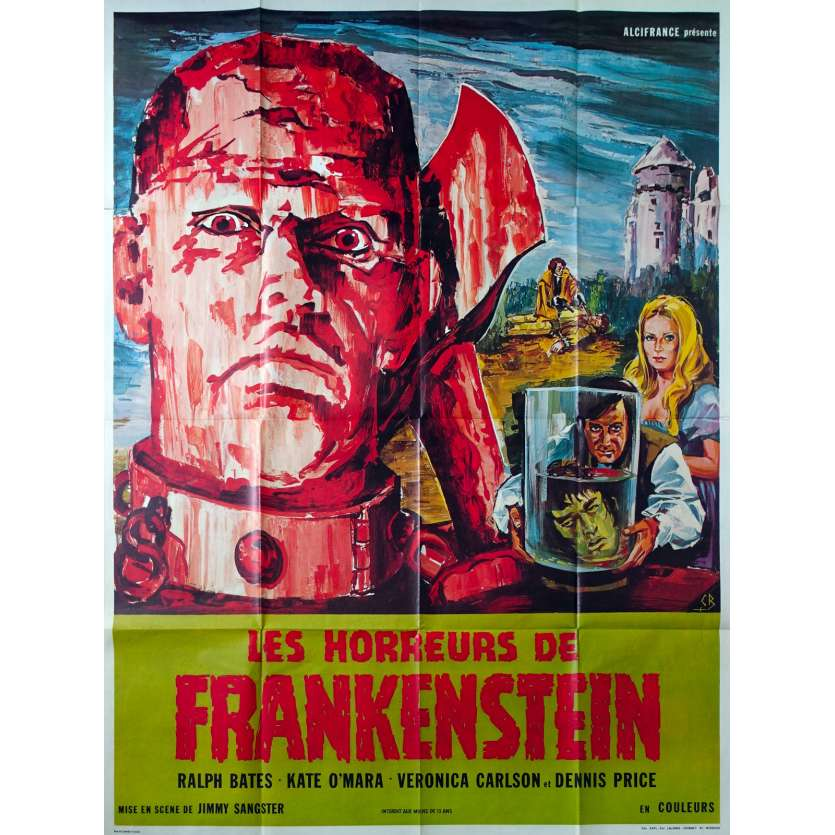 HORROR OF FRANKENSTEIN French Movie Poster 47x63 '70 Hammer Films, Jimmy Sangster