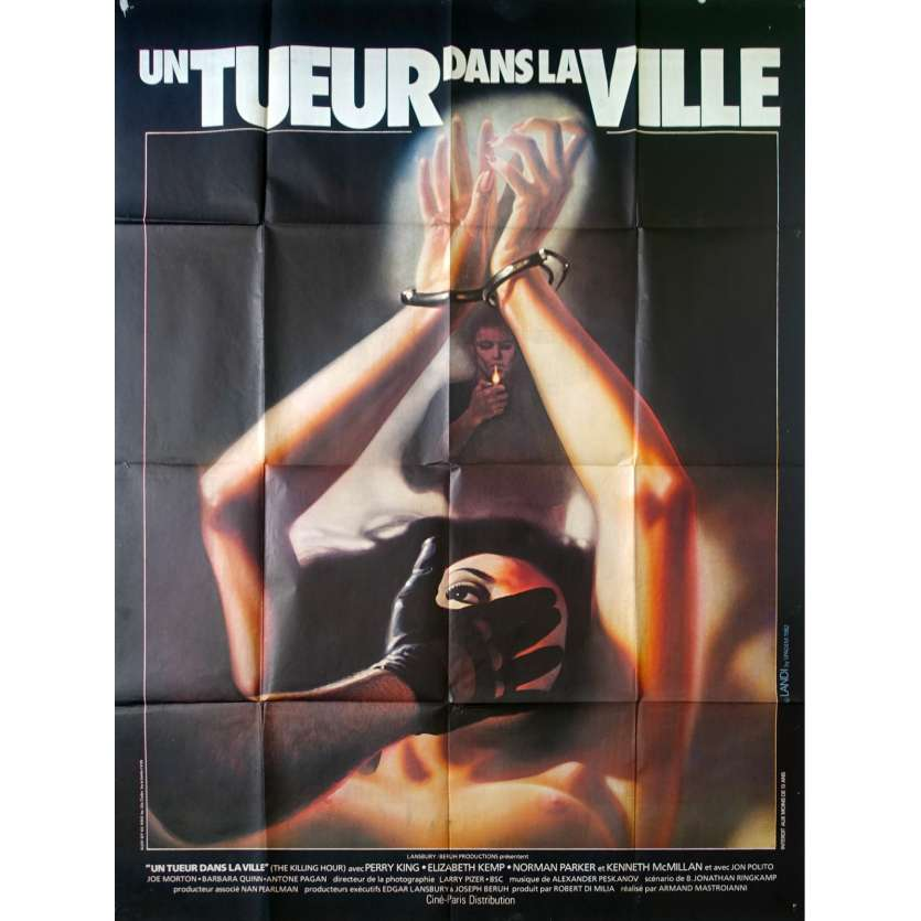 UN TUEUR DANS LA VILLE Affiche de film 120x160 - 1982 - Perry King, Killing Hour