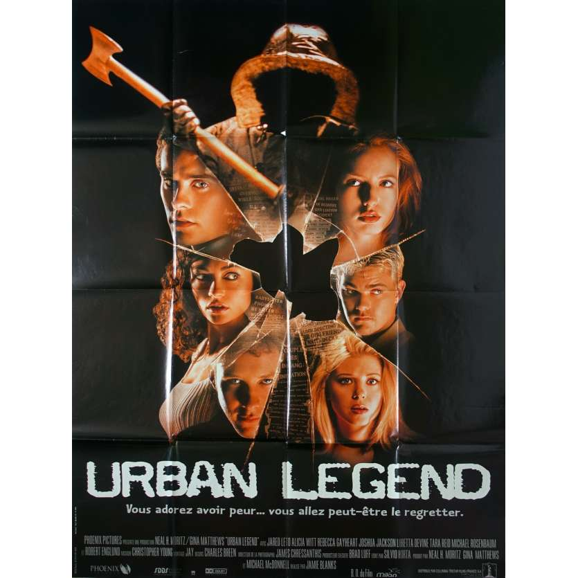 URBAN LEGEND Movie Poster 47x63 '98 Jared Leto, Alicia Witt