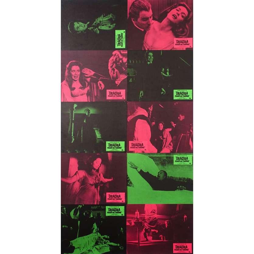 DRACULA PRINCE DES TENEBRES Photos de film x10 - 21x30 cm. - 1966 - Christopher Lee, Terence Fisher