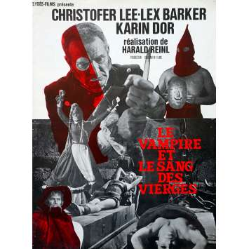 LE VAMPIRE ET LE SANG DES VIERGES Synopsis 4p - 21x30 cm. - 1967 - Christopher Lee, Harald Reinl