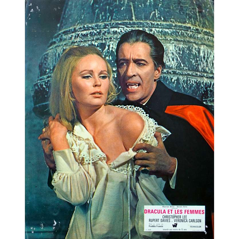 DRACULA HAS RISEN FROM THE GRAVE Original Lobby Card - 9x12 in. - 1968 - Freddie Francis, Christopher Lee
