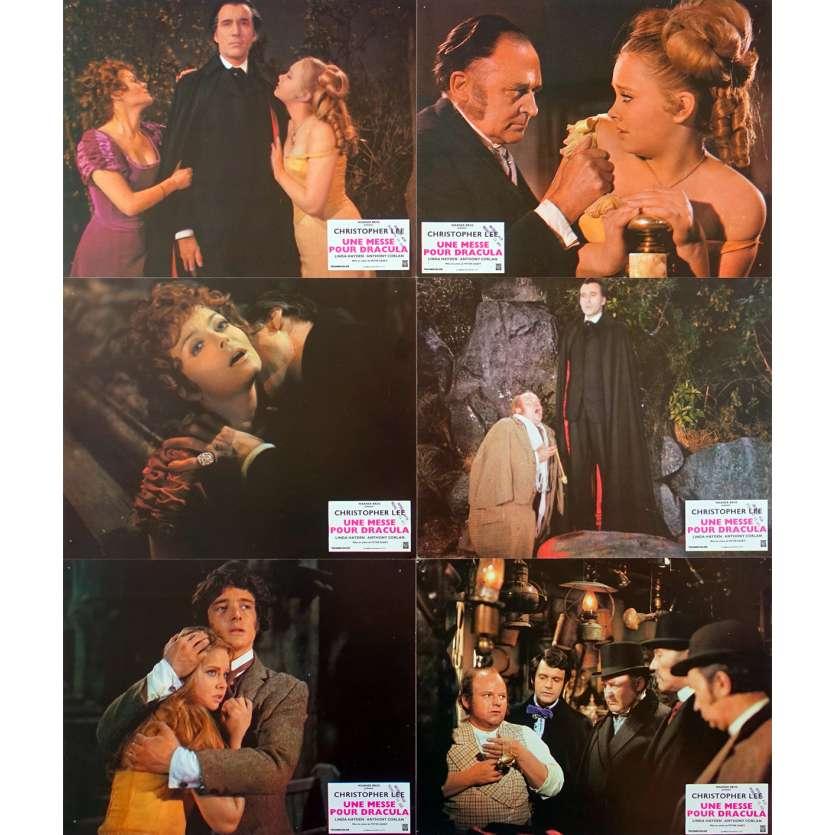 TASTE THE BLOOD OF DRACULA Original Lobby Cards x6 - 9x12 in. - 1970 - Peter Sasdy, Christopher Lee