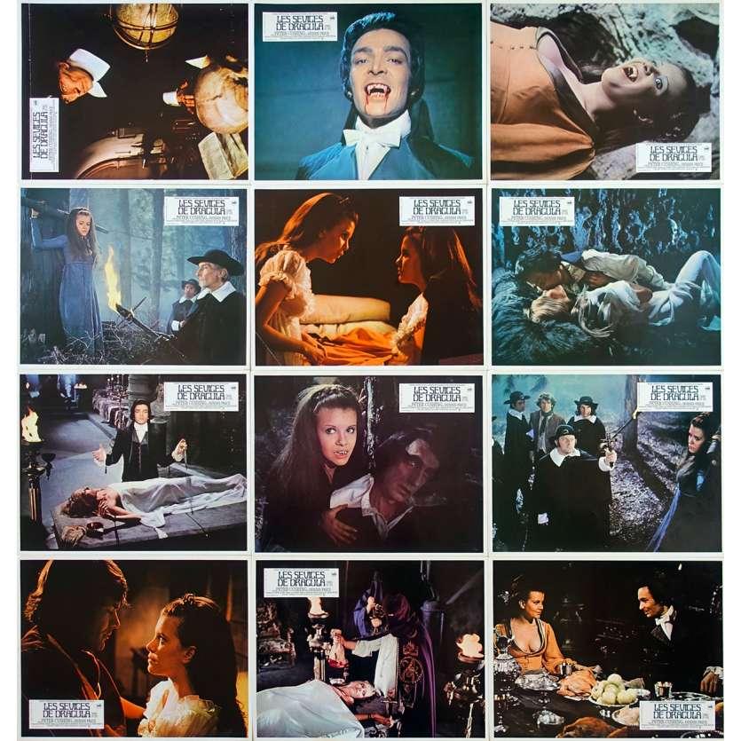 TWINS OF EVIL Original Lobby Cards x12 - 9x12 in. - 1971 - John Hough, Peter Cushing