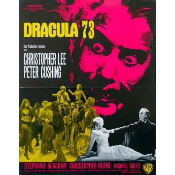 DRACULA A.D. 72 Original Herald - 9x12 in. - 1972 - Alan Gibson, Christopher Lee, Peter Cushing