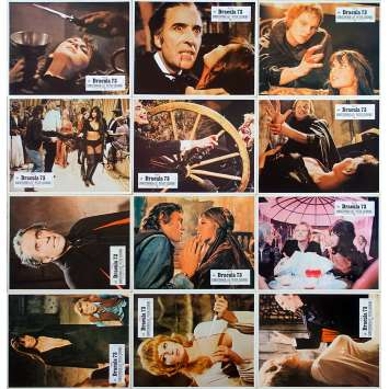 DRACULA A.D. 72 Original Lobby Cards x12 - 9x12 in. - 1972 - Alan Gibson, Christopher Lee, Peter Cushing