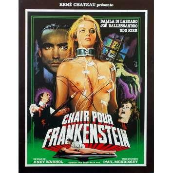 CHAIR POUR FRANKENSTEIN Synopsis 4p - 21x30 cm. - 1973 - Joe Dallesandro, Udo Kier, Paul Morrissey