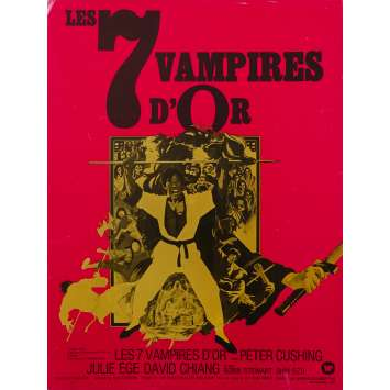 7 GOLDEN VAMPIRES Original Herald 2p - 9x12 in. - 1974 - Roy Ward Baker, Peter Cushing