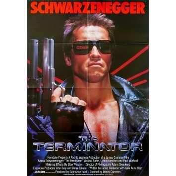 TERMINATOR Affiche de film Inter. - 69x102 cm. - 1983 - Arnold Schwarzenegger, James Cameron