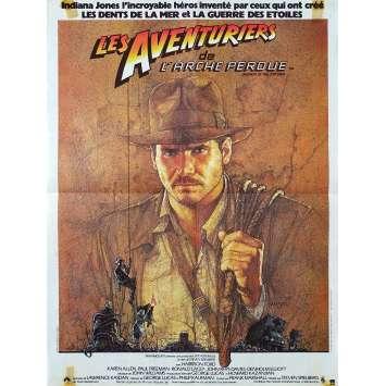RAIDERS OF THE LOST ARK Original Movie Poster - 15x21 in. - 1981 - Steven Spielberg, Harrison Ford
