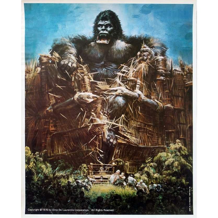 KING KONG Original Movie Poster - 20x25 in. - 1976 - John Guillermin, Fay Wray