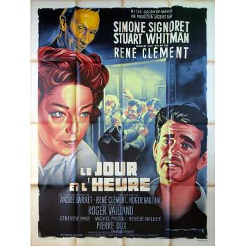 THE DAY AND THE HOUR Original Movie Poster - 47x63 in. - 1963 - René Clément, Simone Signoret