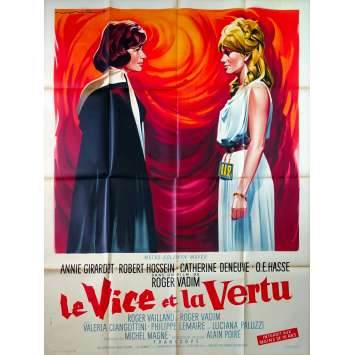 VICE AND VERTUE Original Movie Poster - 47x63 in. - 1963 - Roger Vadim, Catherine Deneuve