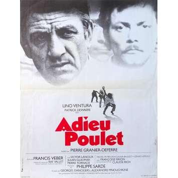 ADIEU POULET Affiche de film - 40x60 cm. - 1975 - Lino Ventura, Patrick Dewaere, Pierre Granier-Deferre