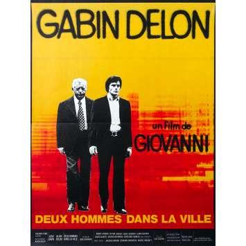 TWO MEN IN TOWN Original Movie Poster - 15x21 in. - 1973 - José Giovanni, Alain Delon