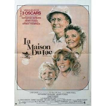 LA MAISON DU LAC Affiche de film - 40x60 cm. - 1981 - Katharine Hepburn, Henry Fonda, Mark Rydell