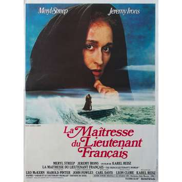 LA MAITRESSE DU LIEUTENANT FRANÇAIS Affiche de film - 40x60 cm. - 1981 - Meryl Streep, Jeremy Irons, Karel Reisz