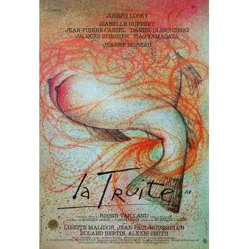 LA TRUITE Affiche de film - 40x60 cm. - 1982 - Isabelle Huppert, Joseph Losey