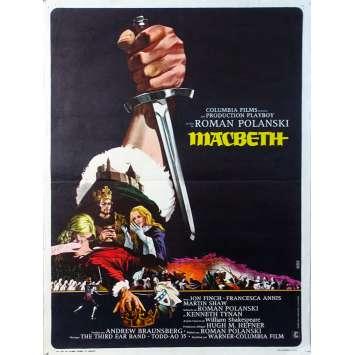 MACBETH Affiche de film - 40x60 cm. - 1971 - Jon Finch, Roman Polanski