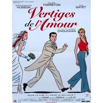 LOVE VERTIGO Original Movie Poster - 15x21 in. - 2001 - Laurent Chouchan, Philippe Torreton