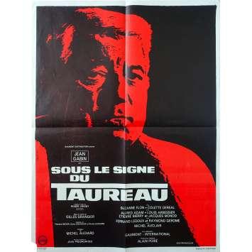 UNDER THE SIGN OF THE BULL Original Movie Poster - 23x32 in. - 1969 - Gilles Grangier, Jean Gabin
