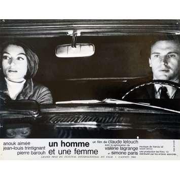 MAN & A WOMAN Original Lobby Card N01 - 9x12 in. - 1966 - Claude Lelouch, Anouk Aimée, Jean-Louis Trintignant