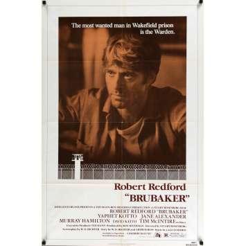 BRUBAKER Affiche de film 69x104 - 1980 - Robert Redford, Stuart Rosenberg