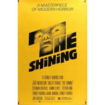 SHINING Affiche de Cinéma US ORIGINALE - 1980 - Saul Bass, Kubrick, Rare !