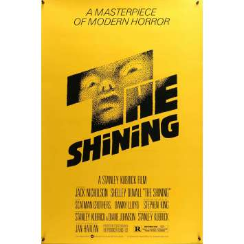 SHINING Original 1sh Movie Poster - 1980 - Saul Bass, Kubrick, Rare!