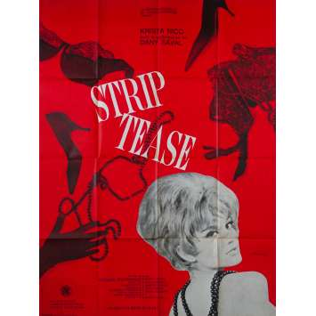 STRIP TEASE Affiche de film 120x160 - 1963 - Dany Saval, Gainsbourg