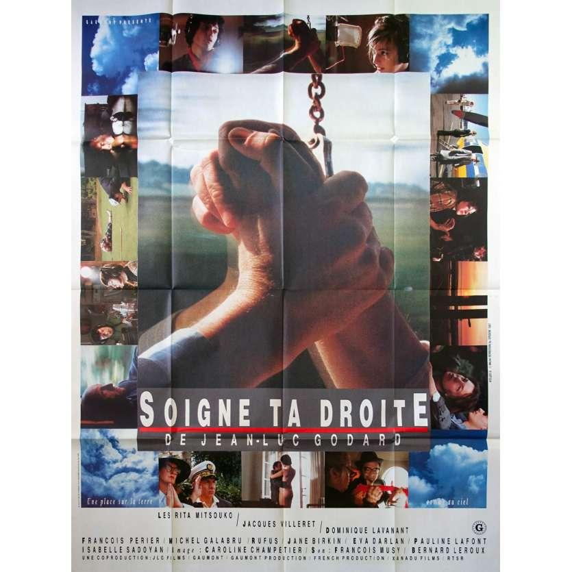 SOIGNE TA DROITE Affiche de film 120x160 - 1987 - Jane Birkin, Jean-Luc Godard
