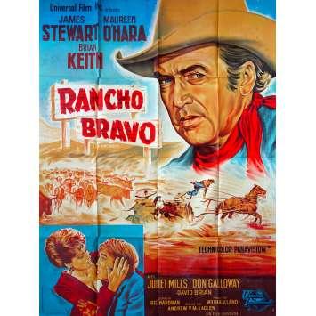 RANCHO BRAVO Affiche de film 120x160 - 1966 - James Steward, Andrew V. McLaglen