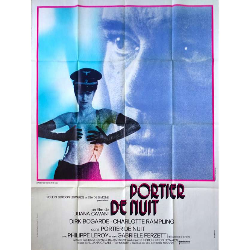 PORTIER DE NUIT Affiche de film 120x160 - 1974 - Dirk Bogarde, Liliana Cavani