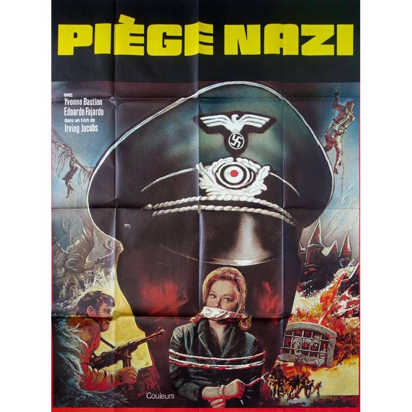 PIEGE NAZI POUR 7 ESPIONS Affiche de film 120x160 - 1972 - Mario Amendola, nazisploitation
