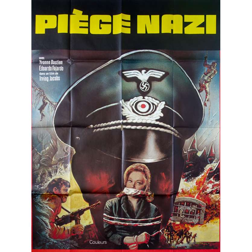 TRAPPOLA PER SIETE SPIESI French Movie Poster - 1972 - Mario Amendola, nazisploitation