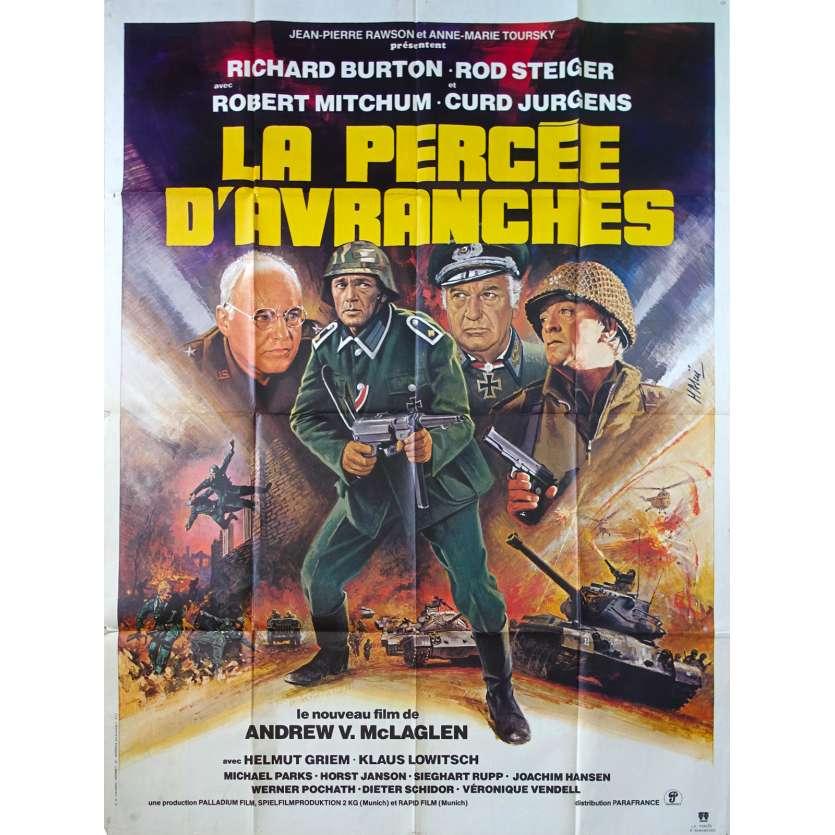 BREAKTHROUGH French Movie Poster 47x63 '79 Richard Burton, Robert Mitchum
