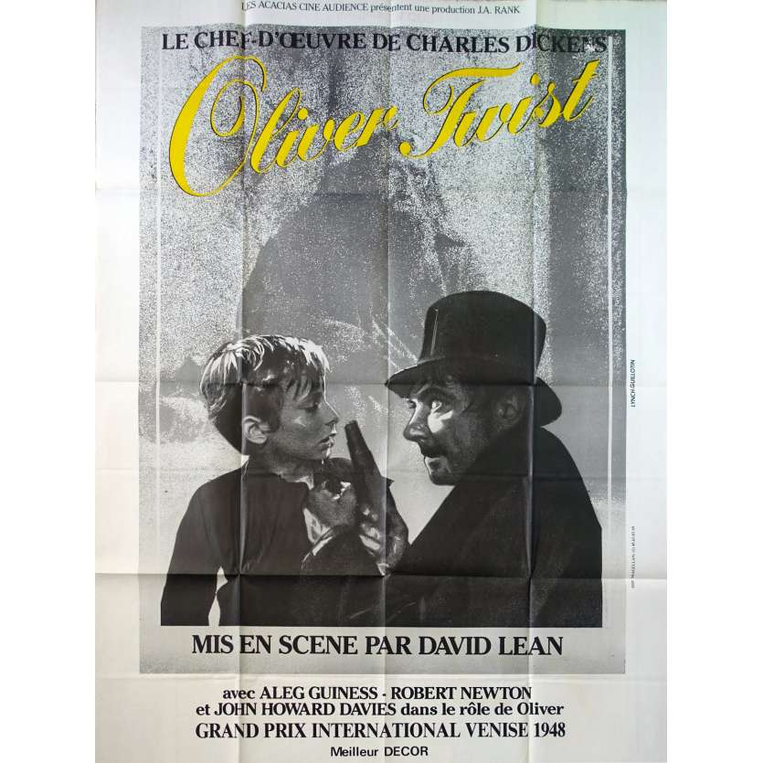 OLIVER TWIST French Movie Poster 47x63 - 1970 - David Lean, Alec Guinness