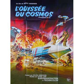 THUNDERBIRDS ARE GO French Movie Poster 47x63 - 1966 - Gerry Anderson, David Graham